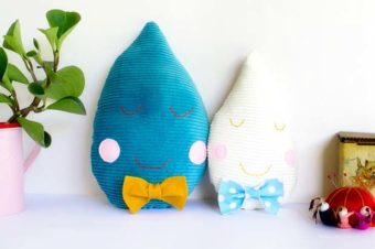 Raindrop Plushie Pattern by Penelope and Pip