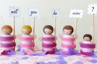 Valentine Love-Bug Peg Doll Pattern