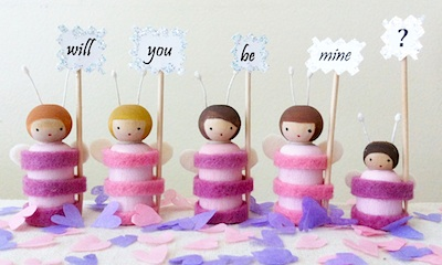 Valentine Love-Bug Peg Doll Pattern
