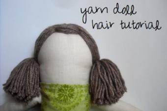 Yarn Doll Hair Tutorial by Becca Marie Designs