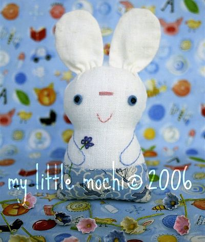 chibi cat and bunny pattern
