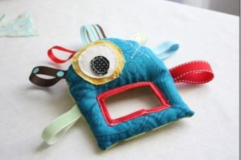 Monster Plushie Pattern Teether by The Crafty Cupboard