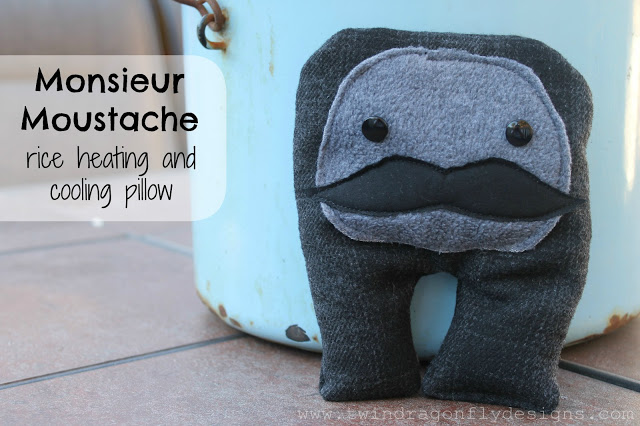 mustache plushie guy by Dragon Fly Designs