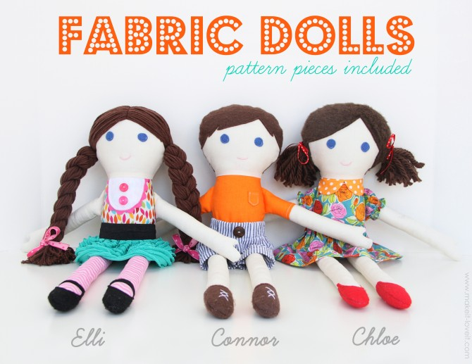 Home / DOLL PATTERNS • GIRL / Doll Pattern by Make it and Love it
