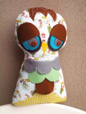 Stuffed Owl Pattern by One Red Robin