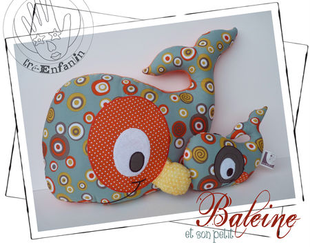 Whale Pattern – Stuffed Animal