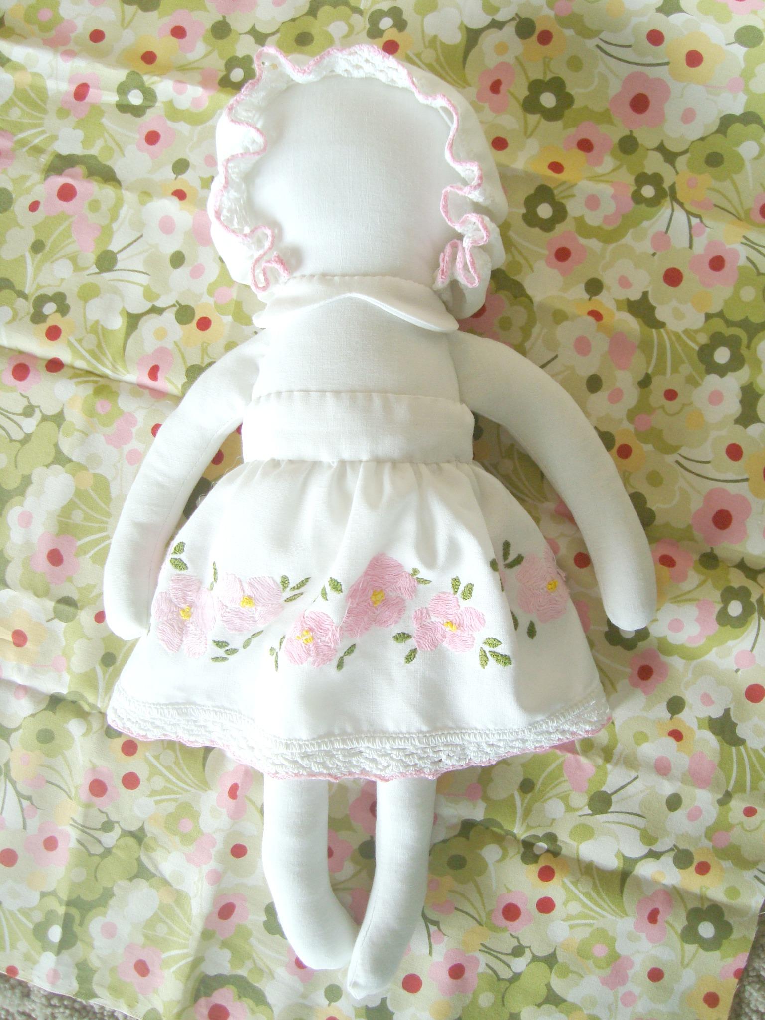 vintage fabric heirloom doll