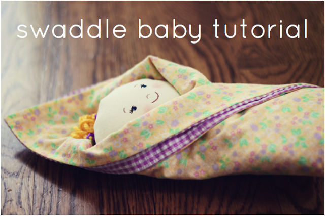 swaddle baby doll tutorial / plushie patterns