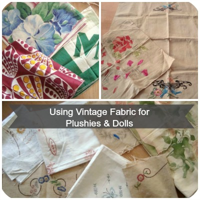 vintage fabric for soft toys and plushies // plushie patterns