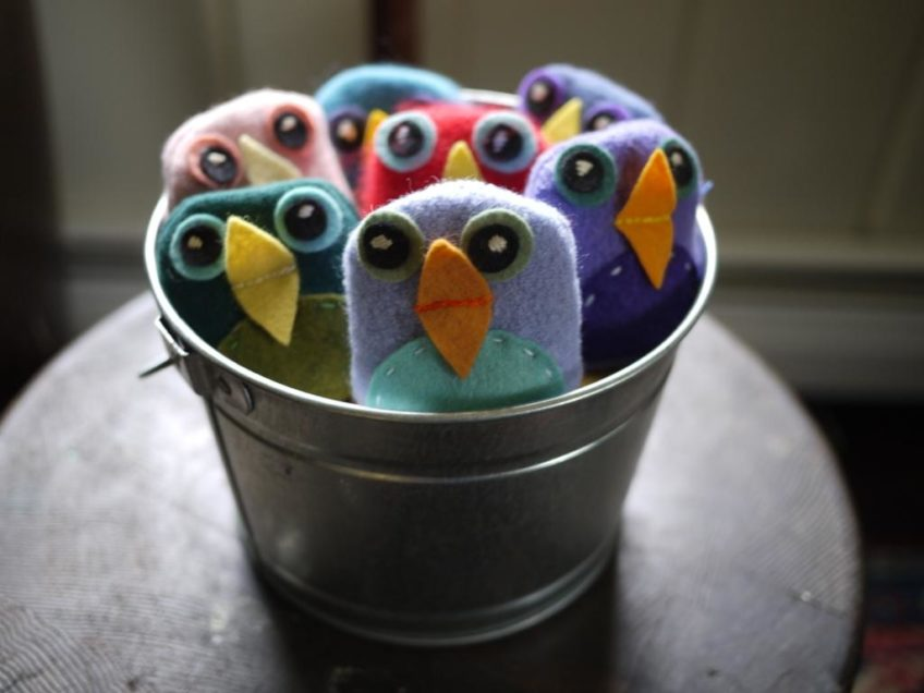 Bean Bag Birds Tutorial by The Handmade Adventures