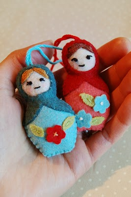 Mini Matryoshka Doll by Sew to Speak