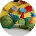 Party Turtle Stuffed Animal by Ric Rac