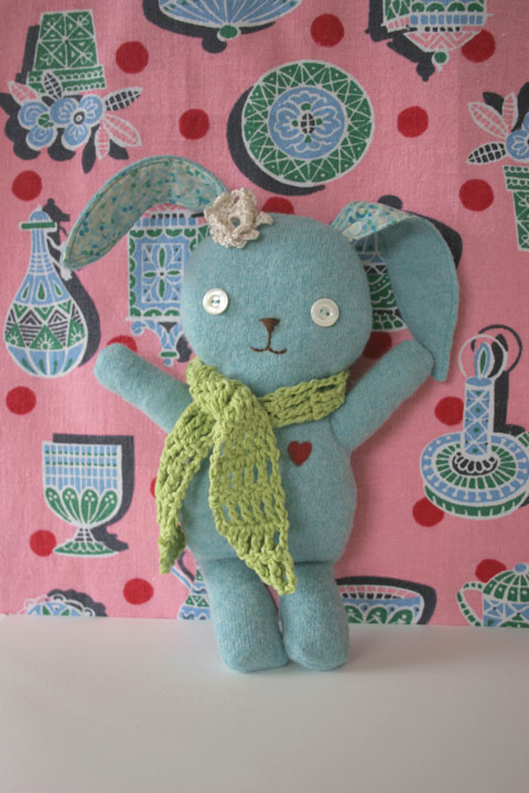 Wool Felt Stuffed Bunny Pattern by Stitch Village