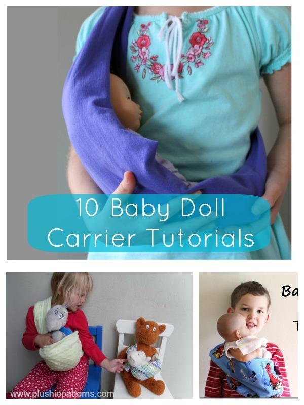 10 Baby Doll Carrier Tutorials   plushie patterns #dollcarrier #freepattern