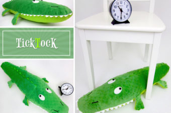 Stuffed Alligator tick tock