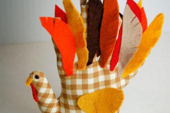 Hand Print Plushie- Turkey!