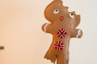 Gingerbread Doll- Half Eaten and still cute!