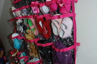Doll Shoes and Accessories Storage