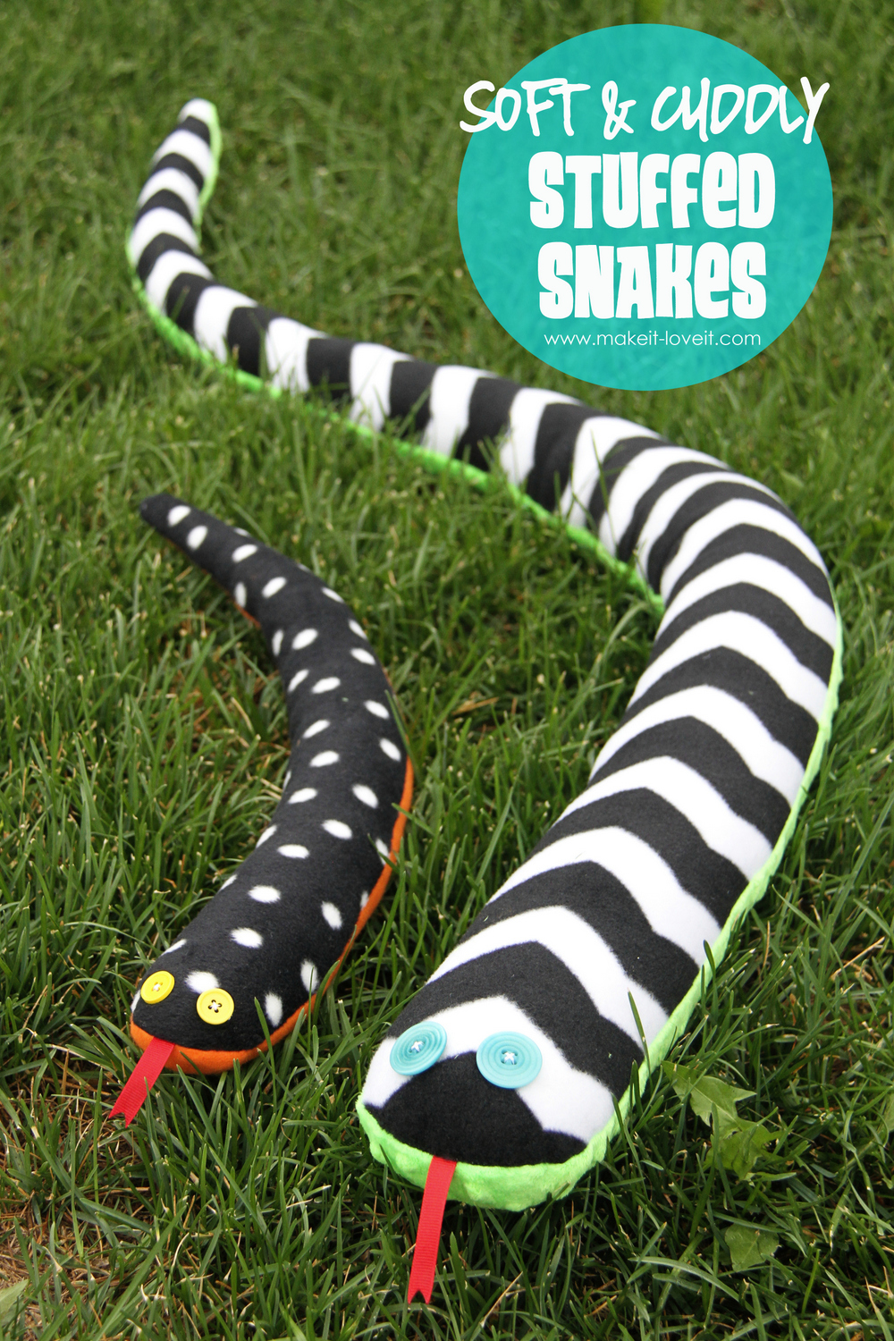 stuffed snake plushie tutorial- free!