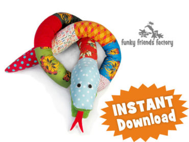 Silly Scrap Snake Toy Sewing Tutorial