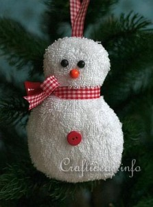 Washcloth_Snowman_Craft