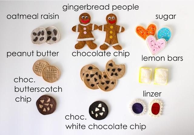 Felt Cookies Tutorial- super cute!