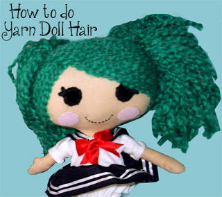 how to do yarn doll hair tutorial | plushie patterns
