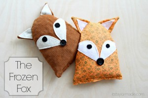 fox plushies hot or cold, free tutorial