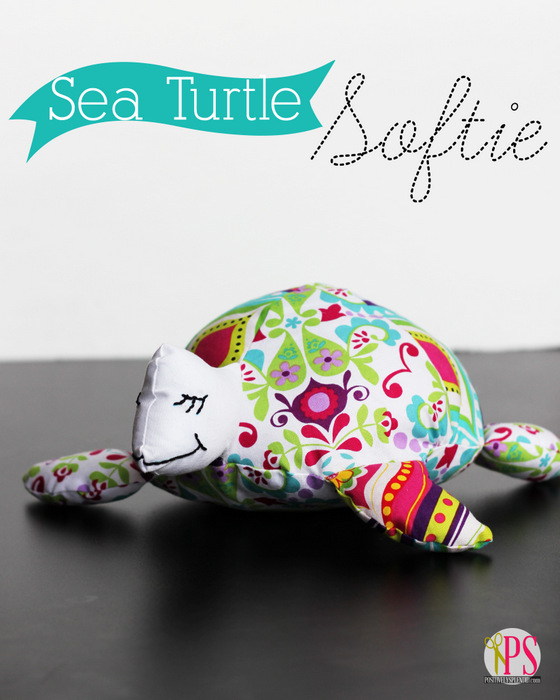 sea turtle softie tutorial