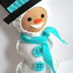 Snowman Plush with Hat and Scarf