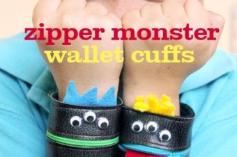 Monster Zipper Cuff Tutorial