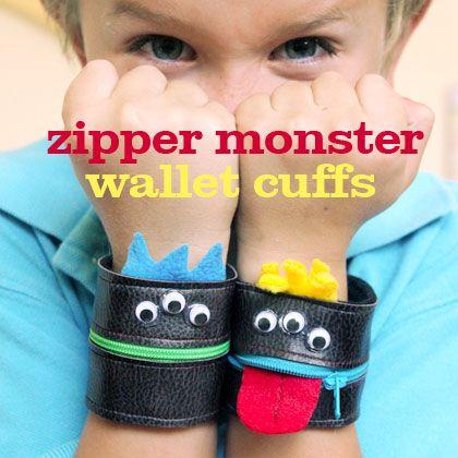zipper monster cuffs
