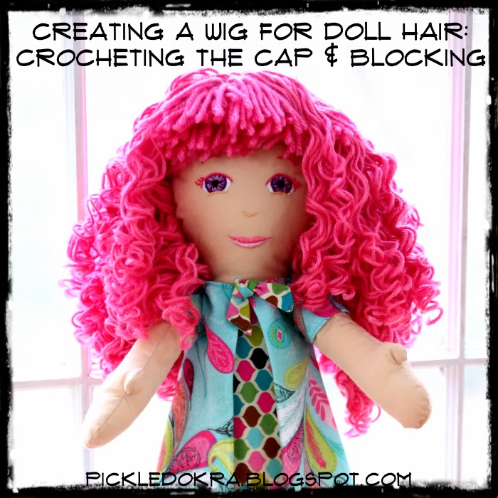 Crochet a cap and curly hair tutorial | plushie patterns