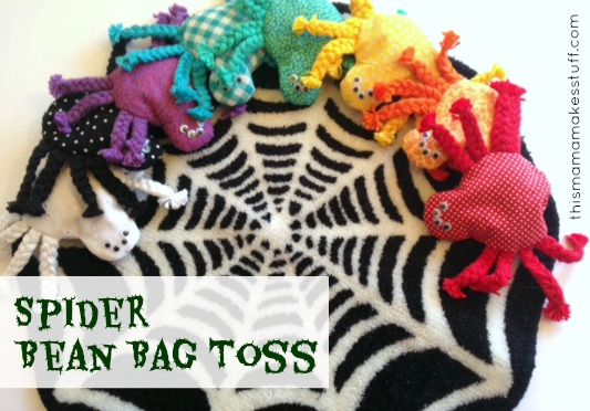 Spider Bean Bag Toss Game | plushie patterns #spider #halloween