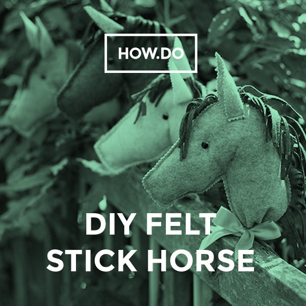 Horse on a stick tutorial and template | plushie patterns