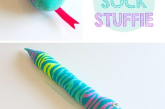 No-Sew Snake Sock Stuffie