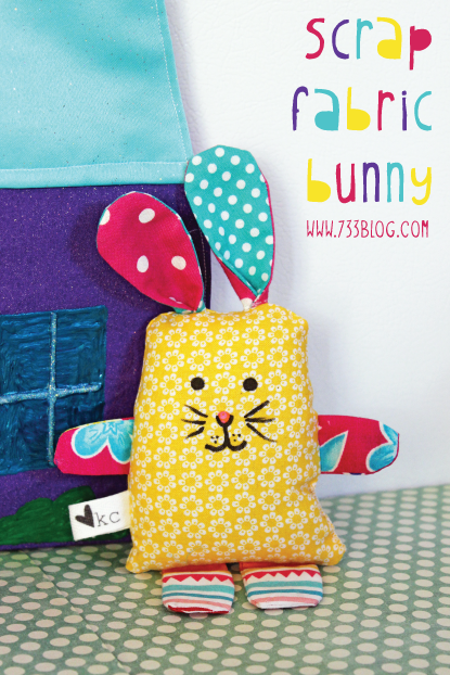 Scrap Fabric Bunny Softie Tutorial