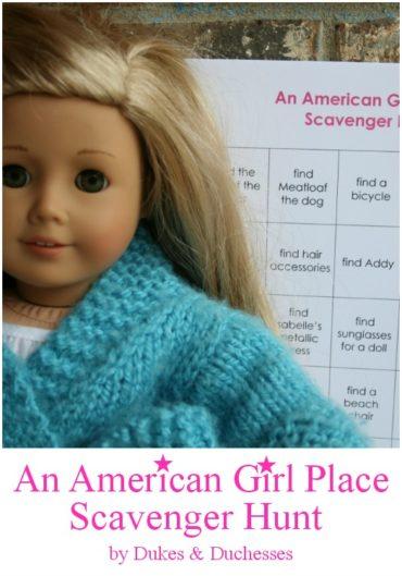 American Girl Doll Scavenger Hunt Printable