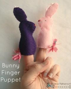 bunny finger puppet tutorial   plushie patterns #fingerpuppet #bunny #easter