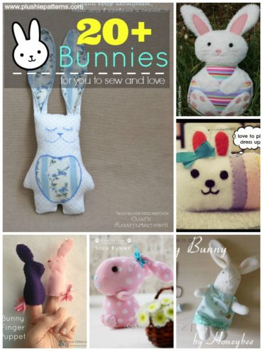 20 + Bunny Sewing Tutorials