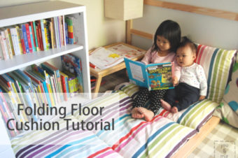 Folding Floor Cushion {tutorial}