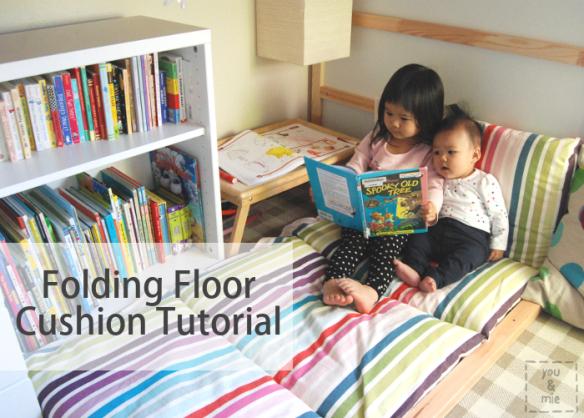 Folding Floor Cushion {tutorial}