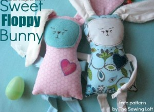 floppy bunny plushie tutorial   easy Spring sewing projects #easter #sewingcrafts