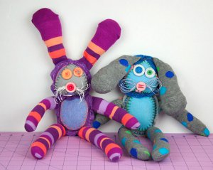 Knee High Sock Bunnies