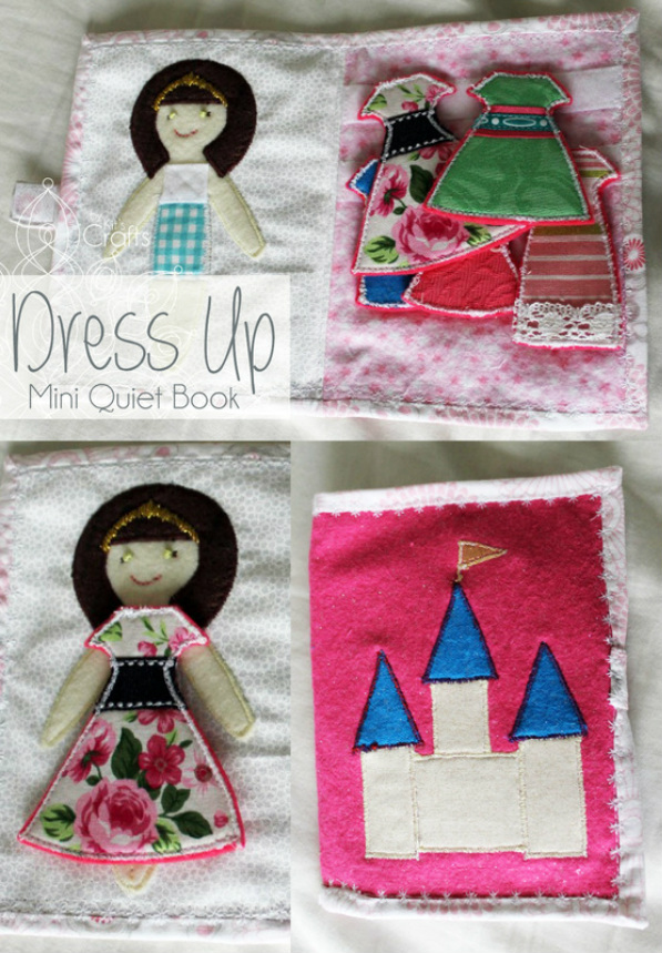 Mini Quiet Book- Dress Up Doll