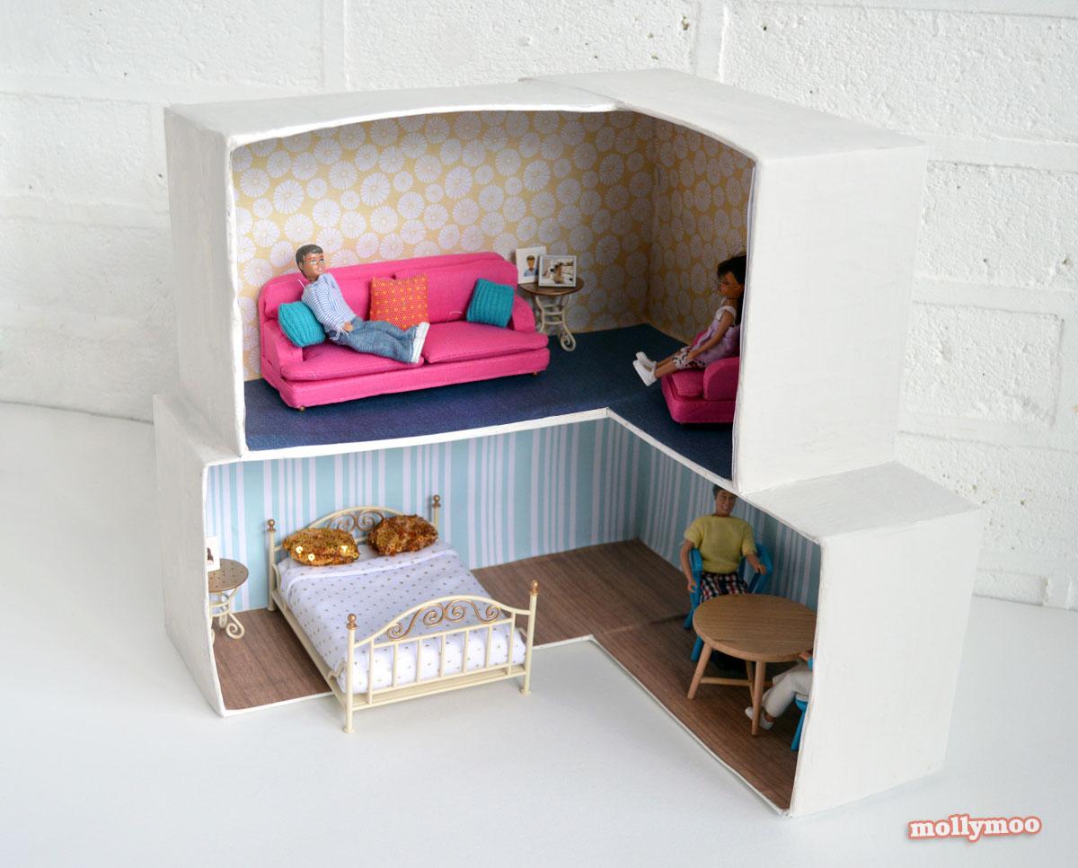 Cardboard Crafting Diy Dollhouse Plushie Patterns