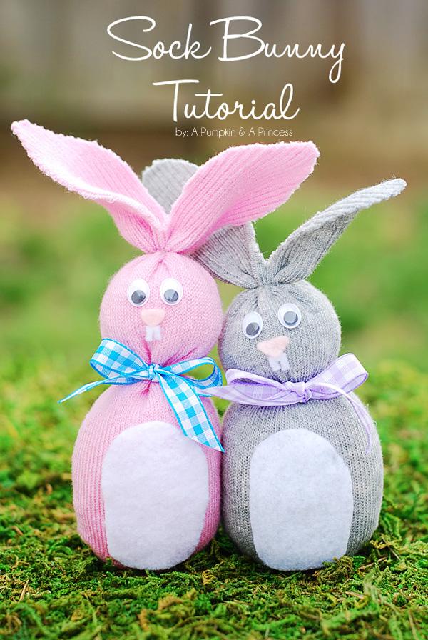 Sock Bunny Tutorial | #easter #bunny #freepattern