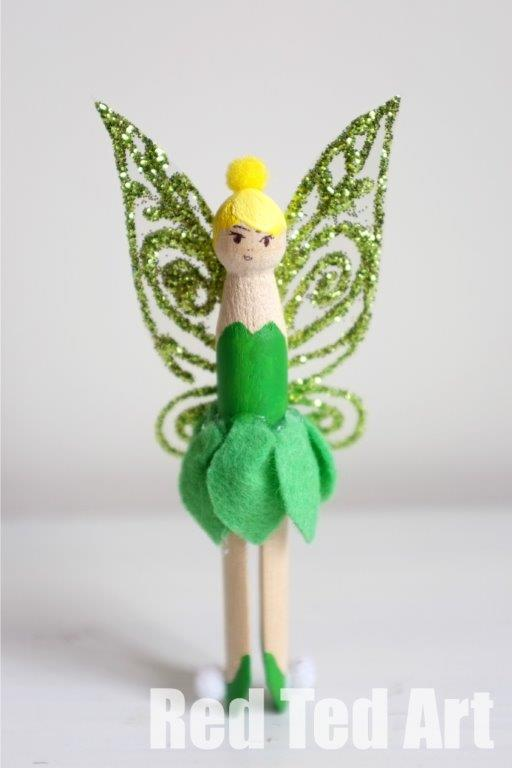 tinkerbell clothes pin doll | more like this @ Plushie Patterns