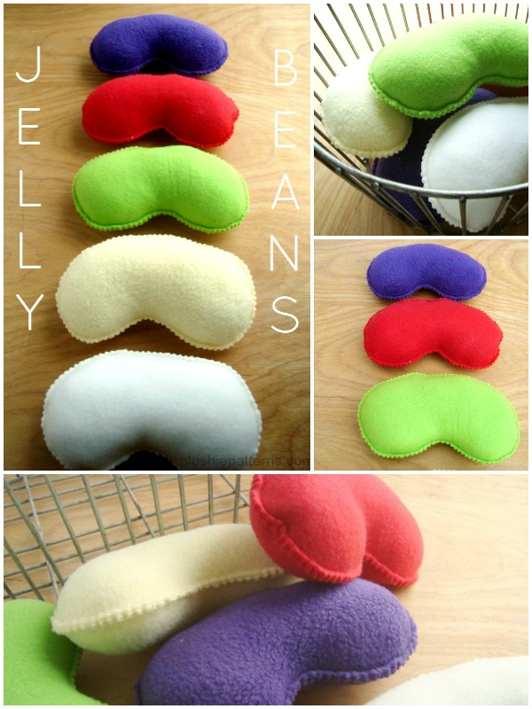 Jelly Bean Tutorial includes template | plushie patterns #easter