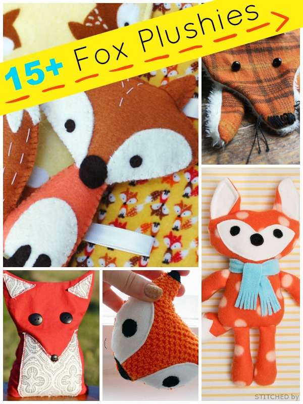15 Fox Stuffed Animal Tutorials Plushie Patterns